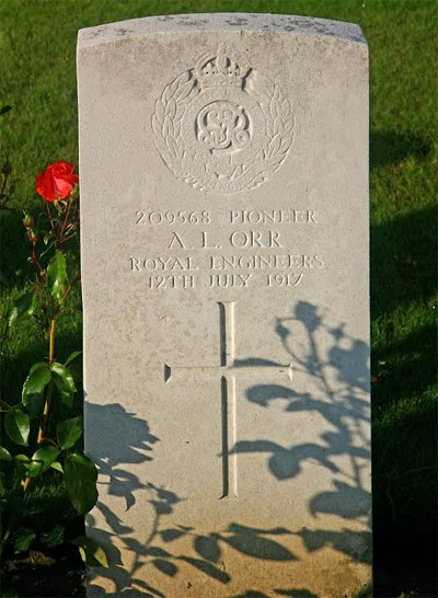 209568 Pioneer A. L. Orr Royal Engineers 12 July 1917