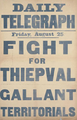 Daily Telegraph Friday, August 25 Fight for Thiepval