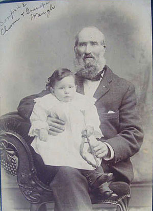 John Waugh with grandson Sandford Cheever
